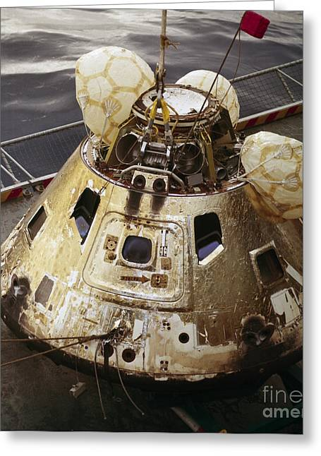 Capsule Greeting Cards - Apollo 8 Capsule Recovery Greeting Card by Nasa