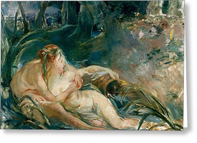 Embrace Greeting Cards - Apollo Appearing to Latone Greeting Card by Berthe Morisot
