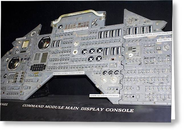 Control Panels Greeting Cards - Apollo Control Panel Greeting Card by Mark Williamson