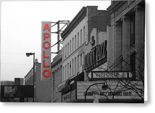 Apollo Theater In Harlem New York No.1 Greeting Card by Ms Judi