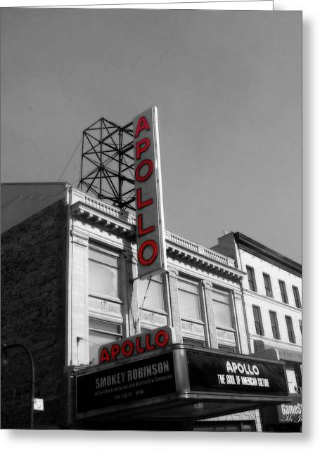 Apollo Theater In Harlem New York No.2 Greeting Card by Ms Judi