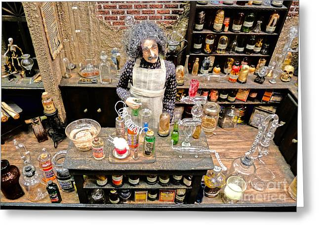 Druggist Greeting Cards - Apothecary Greeting Card by David Bearden