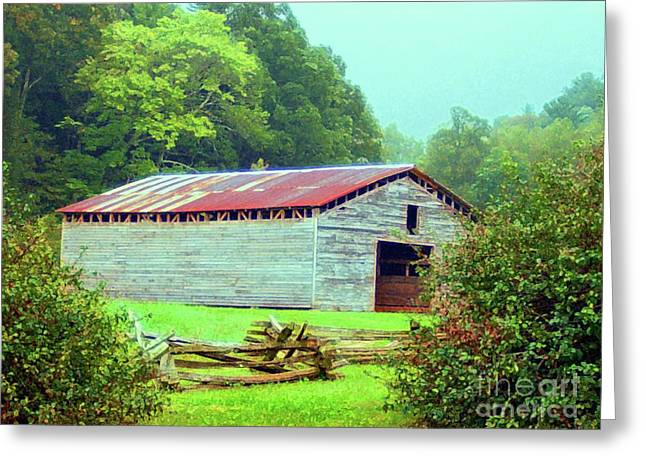 Appalachian Livestock Barn Greeting Card by Desiree Paquette