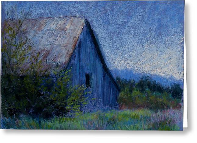 Barn Pastels Greeting Cards - Appalachian Morning Greeting Card by Susan Jenkins