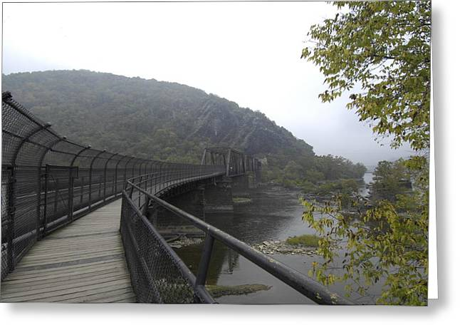Harpers Ferry Greeting Cards - Appalachian Trail Crosses The Potomac Greeting Card by Scott Sroka