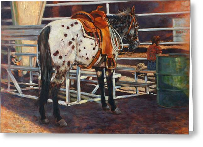 Pony Greeting Cards - Appaloosa Greeting Card by Harvie Brown