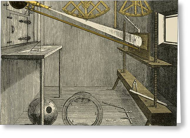 Engraving Greeting Cards - Apparatus Of Johannes Hevelius Greeting Card by Science Source