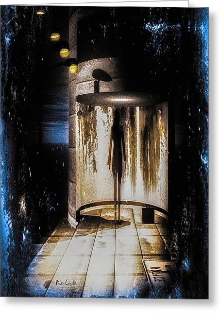 Surrealism Mixed Media Greeting Cards - Apparition Greeting Card by Bob Orsillo