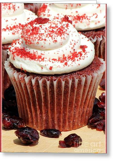 Cupcake Photography Greeting Cards - Appetizing Cupcakes Greeting Card by Sophie Vigneault
