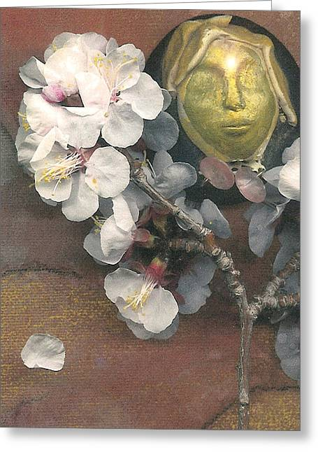 Visionary Artist Digital Art Greeting Cards - Apple Blossom Dreaming Greeting Card by George  Page