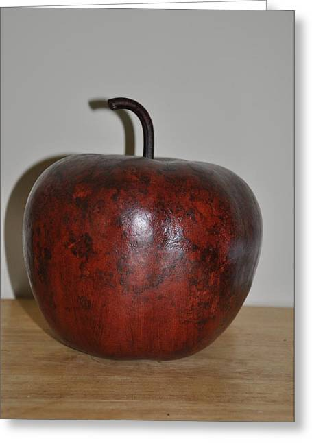 Apple Sculptures Greeting Cards - Apple Gourd Greeting Card by Vijay Sharon Govender