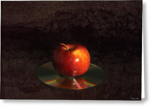 Tabletop Digital Art Greeting Cards - Apple Greeting Card by Peter Chilelli