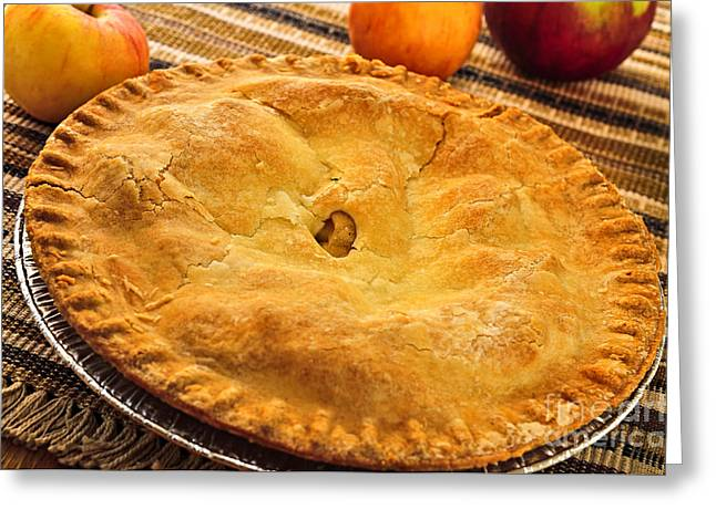 Pie Greeting Cards - Apple pie Greeting Card by Elena Elisseeva