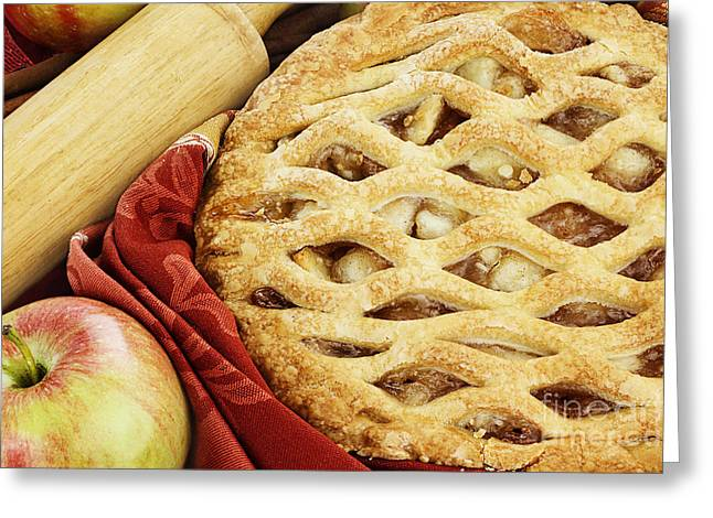 Rolling Pin Greeting Cards - Apple Pie Greeting Card by Stephanie Frey