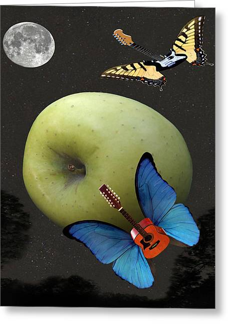 Art Of Soul Music Greeting Cards - Apple Rhythm  Greeting Card by Eric Kempson