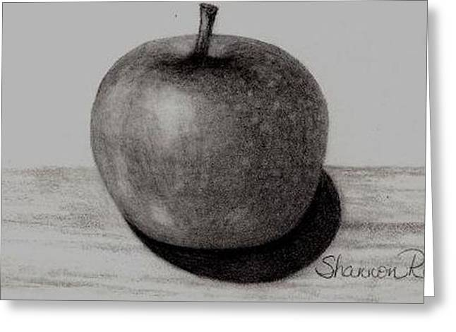 Fruit Tree Drawings Greeting Cards - Apple Greeting Card by Shannon Redmon