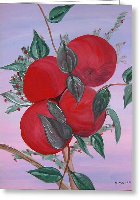Mark Moore Paintings Greeting Cards - Apple Tree Greeting Card by Mark Moore