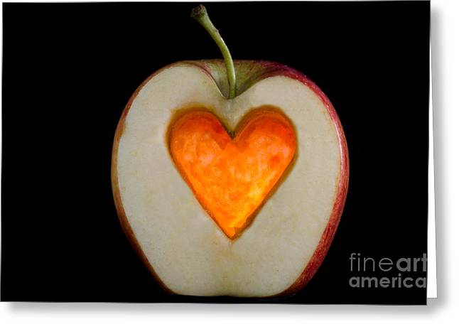 Apple with a heart Greeting Card by Mats Silvan