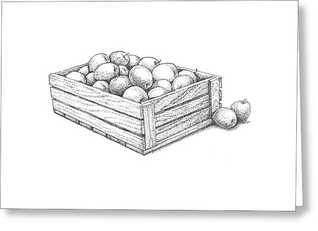 Apple Crates Greeting Cards - Applecrate Greeting Card by Christy Beckwith