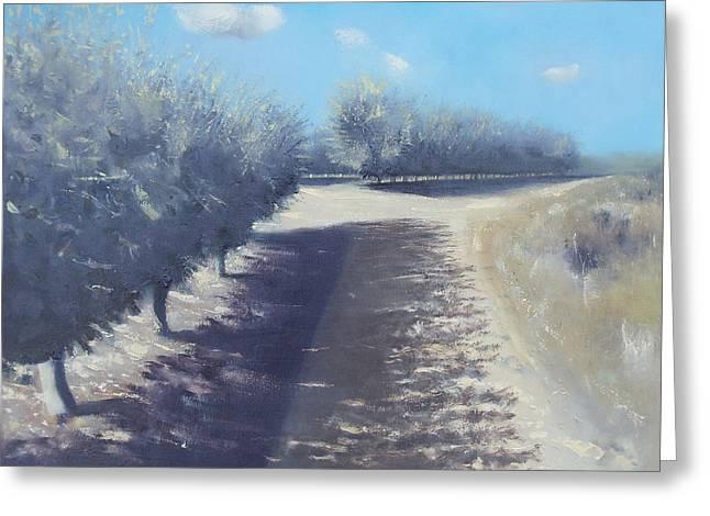 Shadows On Apples Greeting Cards - Applegrove Sataf Greeting Card by Robert Selkirk