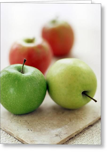Quartet Greeting Cards - Apples Greeting Card by David Munns