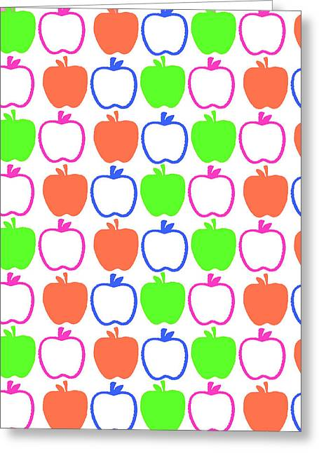 Bold Style Greeting Cards - Apples Greeting Card by Louisa Knight