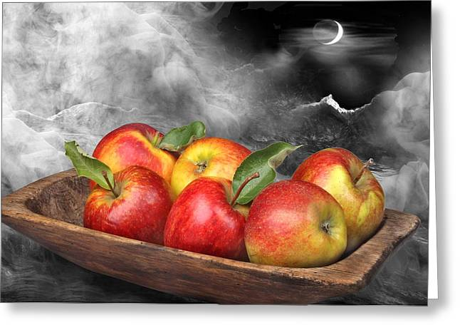 Apple Art Greeting Cards - Apples Greeting Card by Manfred Lutzius