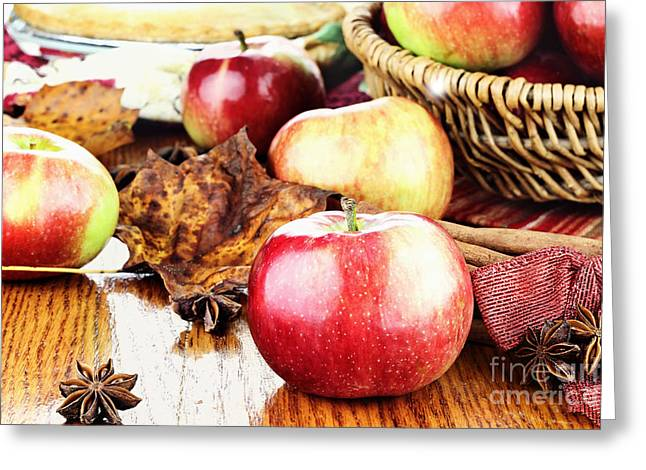 Apple Pie Greeting Cards - Apples Greeting Card by Stephanie Frey