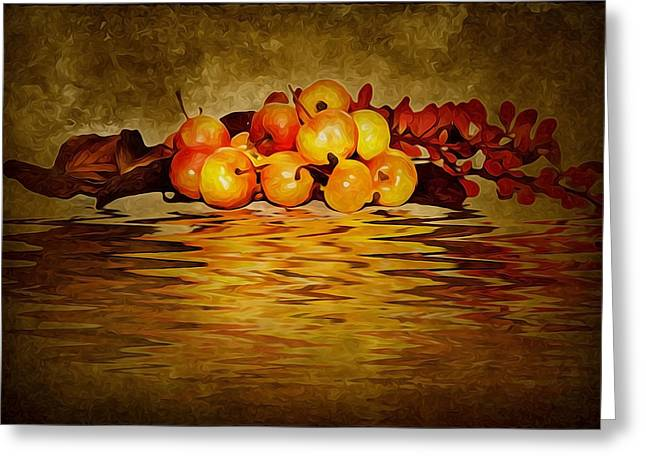 Apple Art Greeting Cards - Apples Greeting Card by Svetlana Sewell