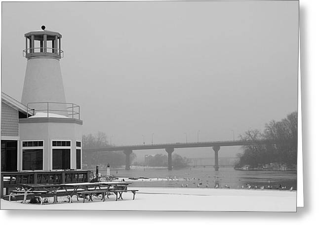 Appleton Yacht Club Greeting Card by Joel Witmeyer