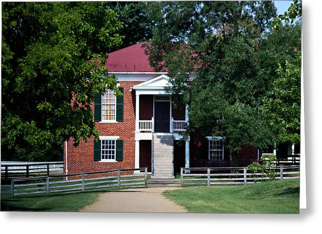 Richmond-lynchburg Stage Road Greeting Cards - Appomattox County Court House 1 Greeting Card by Teresa Mucha