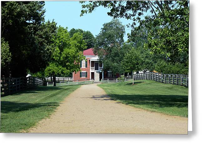 Richmond-lynchburg Stage Road Greeting Cards - Appomattox County Court House 2 Greeting Card by Teresa Mucha
