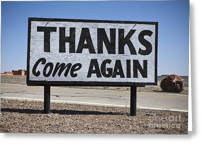 Appreciation Greeting Cards - Appreciative Road Sign Greeting Card by Paul Edmondson