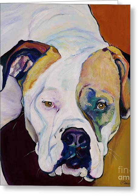Large Format Animal Print Greeting Cards - Apprehension Greeting Card by Pat Saunders-White