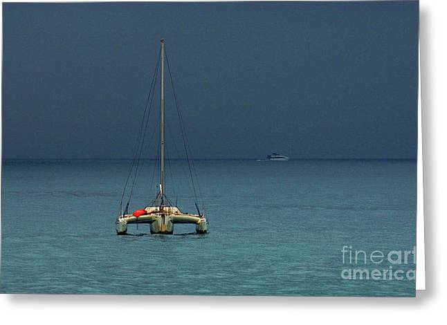 Wind Surfer Greeting Cards - Approaching Storm Greeting Card by Bob Christopher