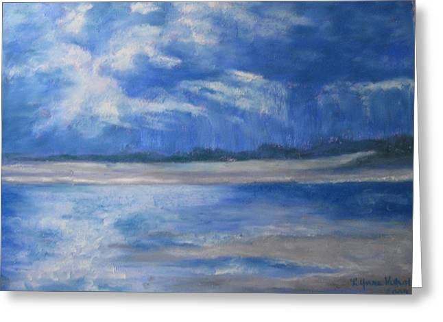 Maine Beach Pastels Greeting Cards - Approaching Storm Greeting Card by Lynne Vokatis