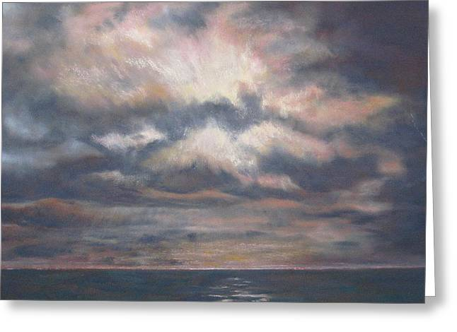 Pacific Pastels Greeting Cards - Approaching Sunset Greeting Card by Marlene Kingman