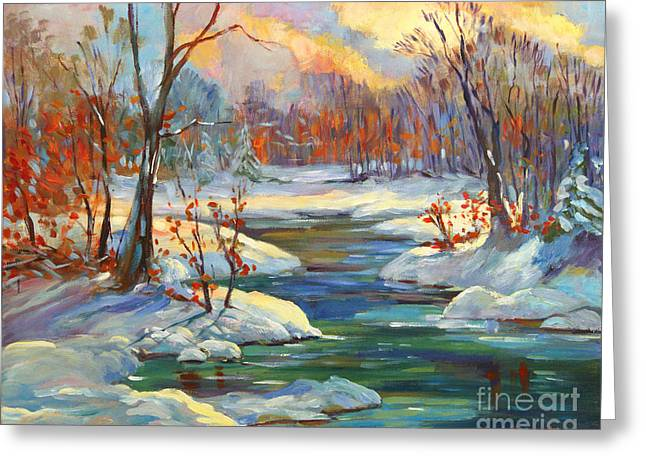 Most Viewed Greeting Cards - Approaching Winter Greeting Card by David Lloyd Glover
