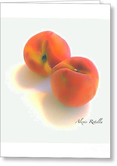 Apricot Digital Art Greeting Cards - Apricots Greeting Card by Alexis Rotella