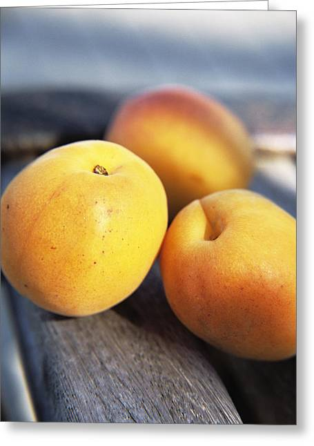 Carotene Greeting Cards - Apricots Greeting Card by Veronique Leplat