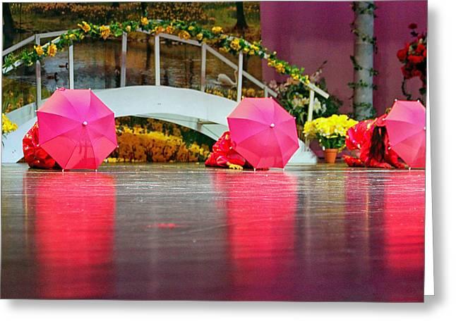 Dance Recital Greeting Cards - April Rain Greeting Card by Lauri Novak