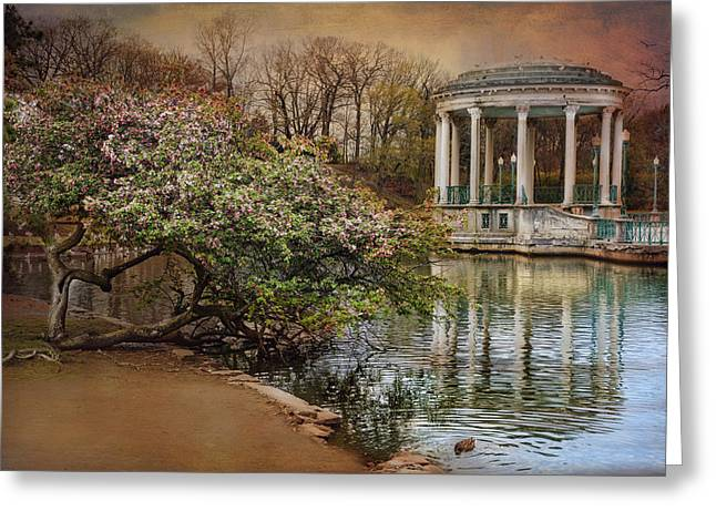 Grandstands Greeting Cards - April Reflections Greeting Card by Robin-lee Vieira