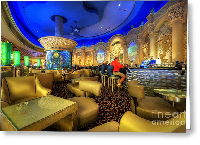Las Vegas Art Greeting Cards - Aqua Bar Greeting Card by Yhun Suarez