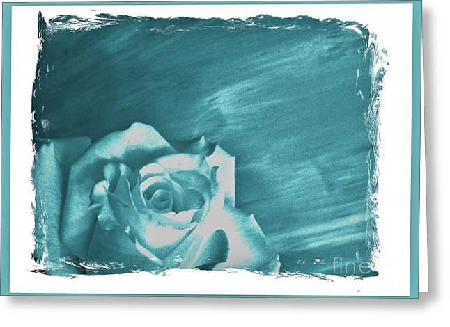 Thin Greeting Cards - Aqua Beauty Rose Greeting Card by Marsha Heiken