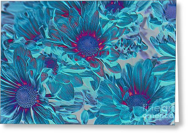 Aimelle Prints Digital Art Greeting Cards - Aqua Blue Beauties Greeting Card by Aimelle
