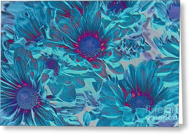 Aimelle Prints Digital Art Greeting Cards - Aqua Blue Beauties Greeting Card by Aimelle