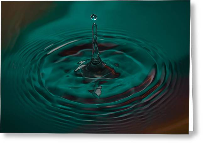 Aqua Drop Greeting Card by Nadya Ost
