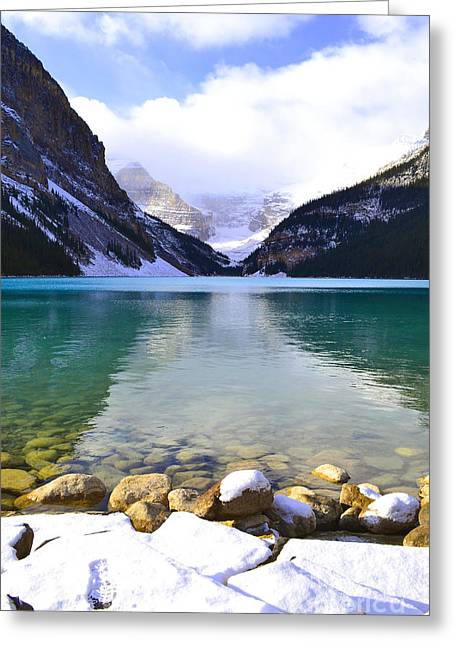 Rocky Mountain National Park Greeting Cards Greeting Cards - Aqua Louise Greeting Card by Andrea Hazel Ihlefeld