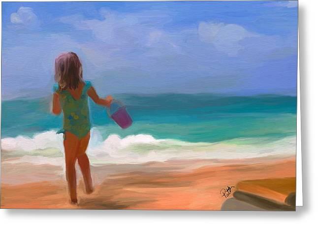 Bathing Suit Greeting Cards - Aqua Seas Greeting Card by Patti Siehien