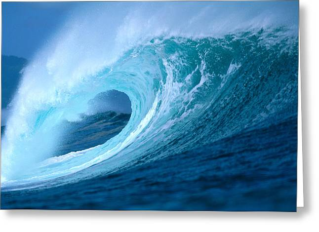 Ocean Art Photos Greeting Cards - Aqua Wave Greeting Card by Vince Cavataio - Printscapes